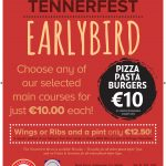 Tennerfest EARLYBIRD menu