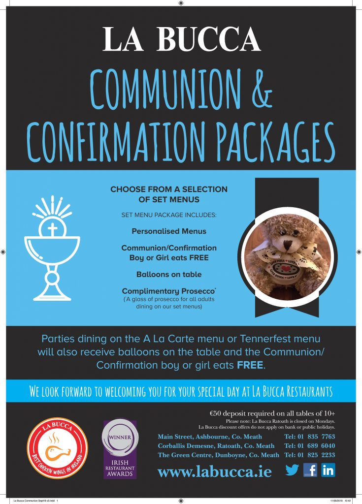 La Bucca Communion Confirmation