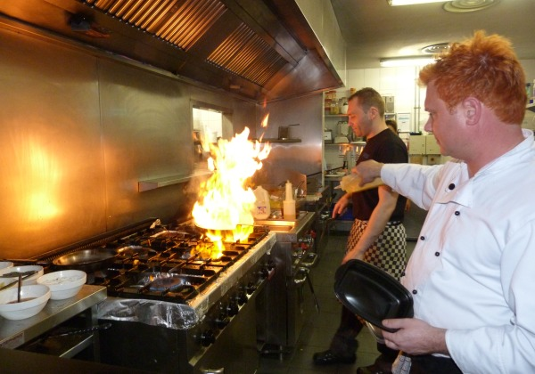 Chefs in action