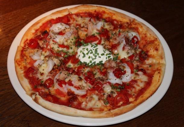 Porco e Gamberoni Pizza