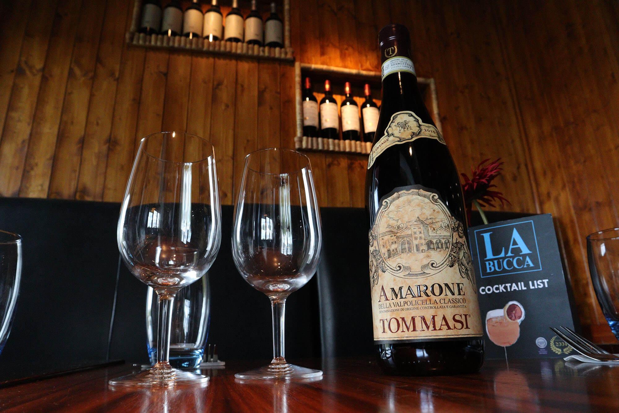 La Bucca bin end wine